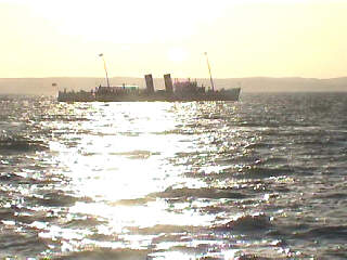 The Waverley sailing away